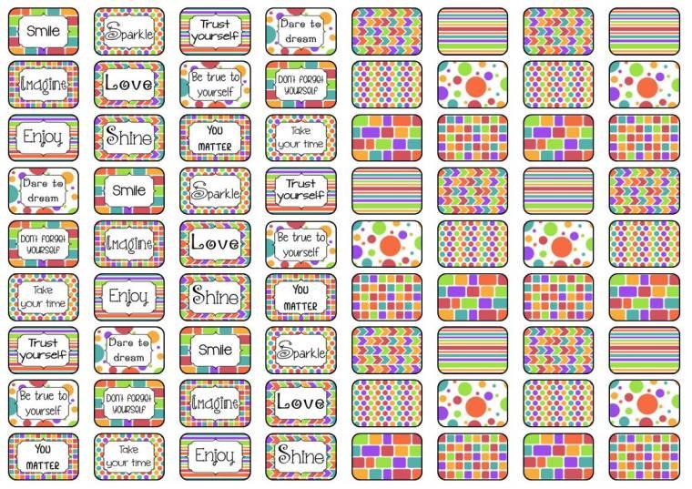stickers 2x3 cm A4