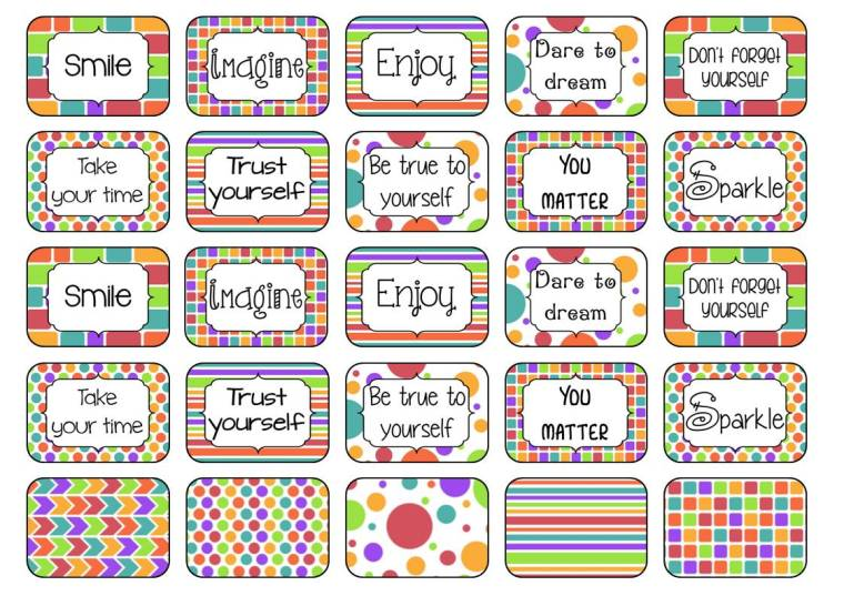 stickers 3.5 x 5 cm A4