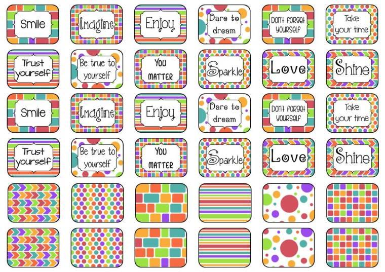 stickers 3 x 4 cm A4