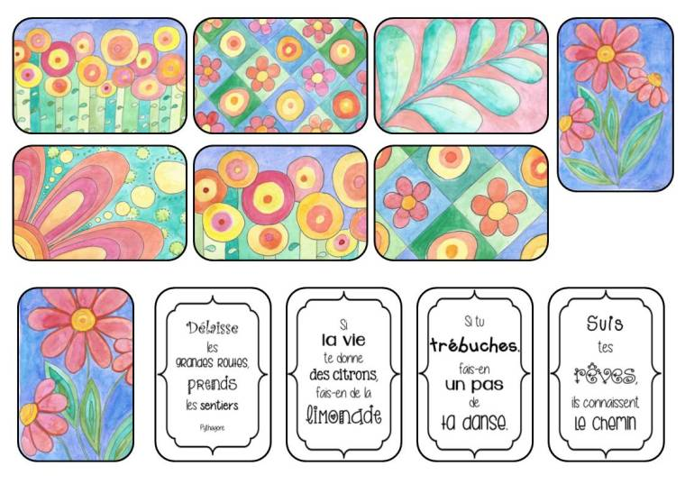 stickers aquarelle