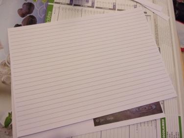 papier ligné