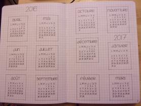 calendrier annuel bujo2